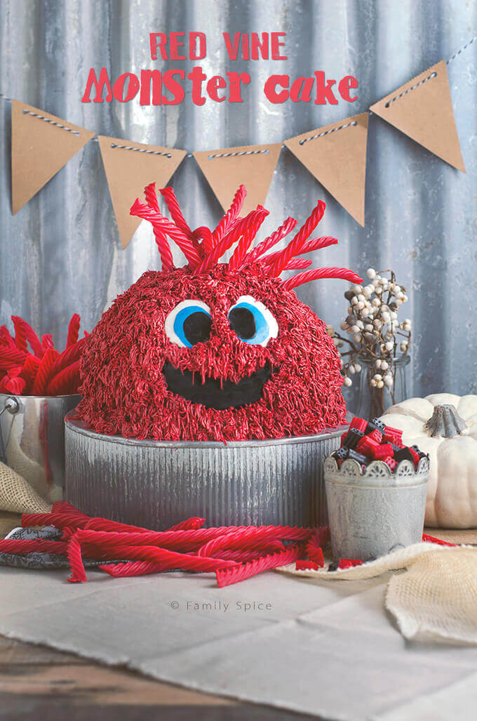 Red Vine Monster Cake by FamilySpice.com
