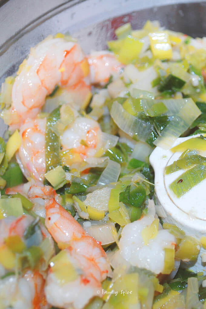 Assembling ingredients for Shrimp Bisque by FamilySpice.com