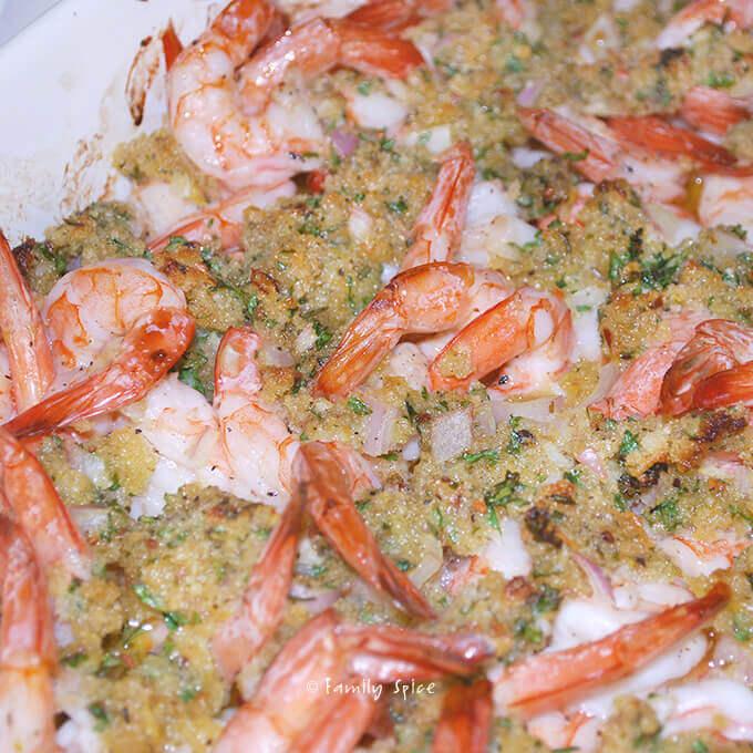 Baked Shrimp Scampi by FamilySpice.com