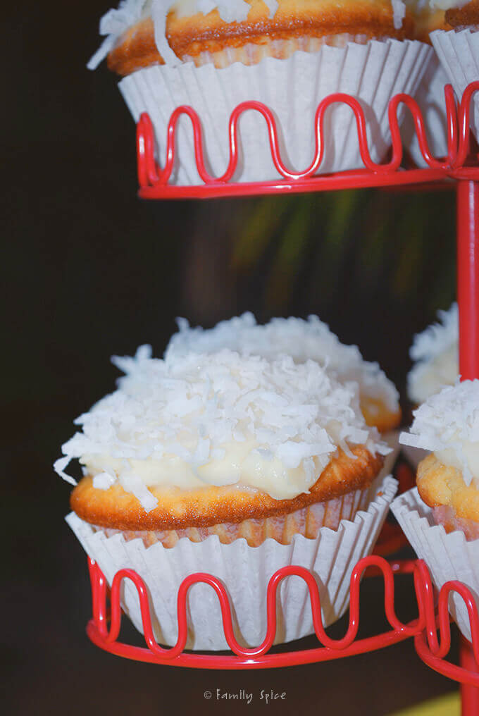 Coconut Cupcakes by FamilySpice.com
