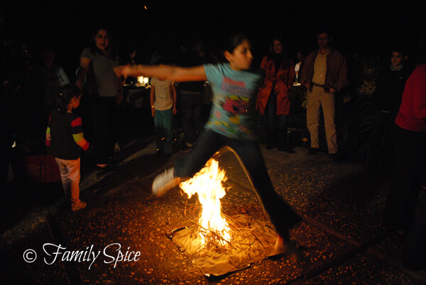 To ward off evil, Iranians jump over fire for Chahr-Shambeh Souri (FamilySpice.com)