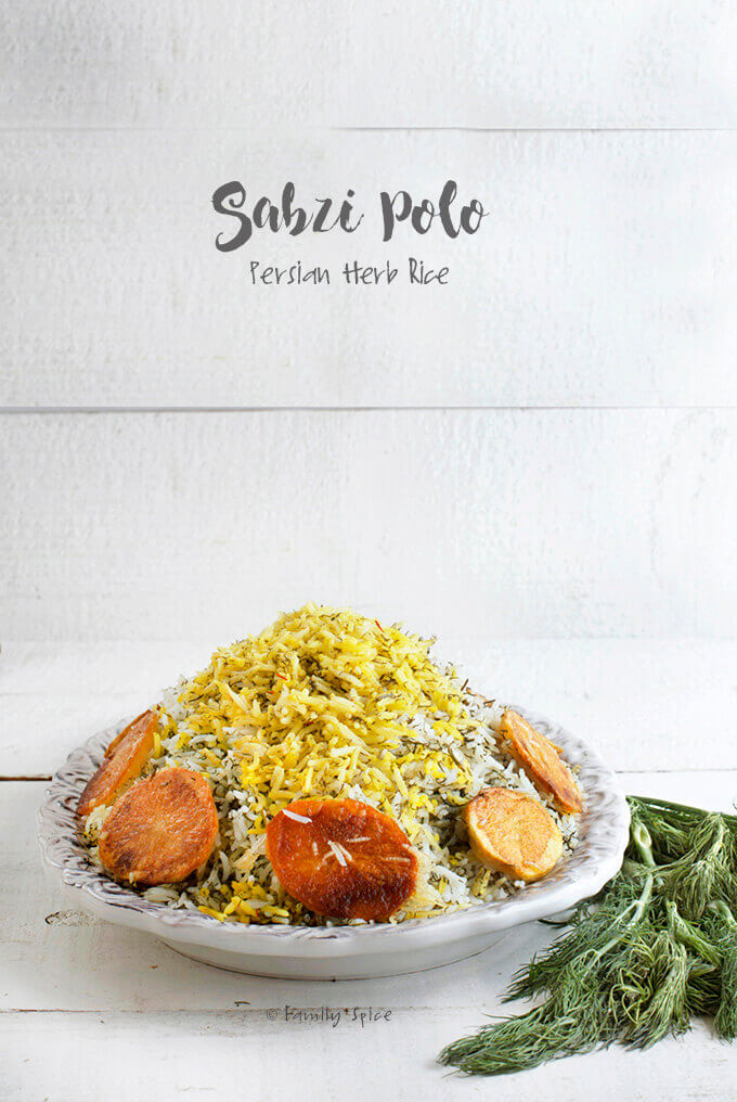 Persian Herbed Rice (Sabzi Polo) by FamilySpice.com