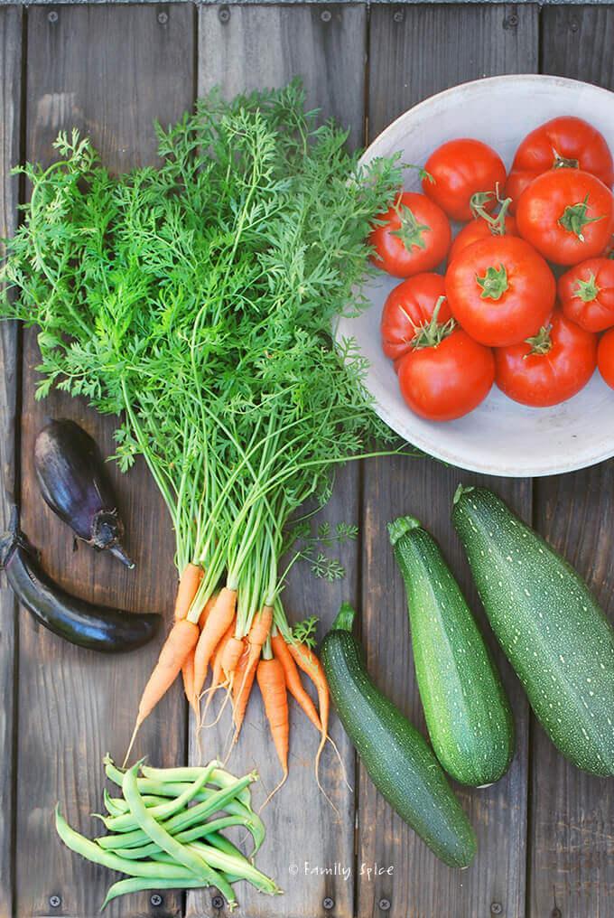 Summer Garden Harvest by FamilySpice.com