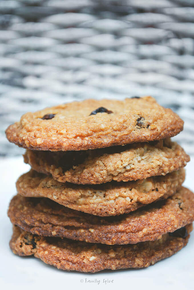 Oatmeal Raisin Cookies with Pecans by FamilySpice.com