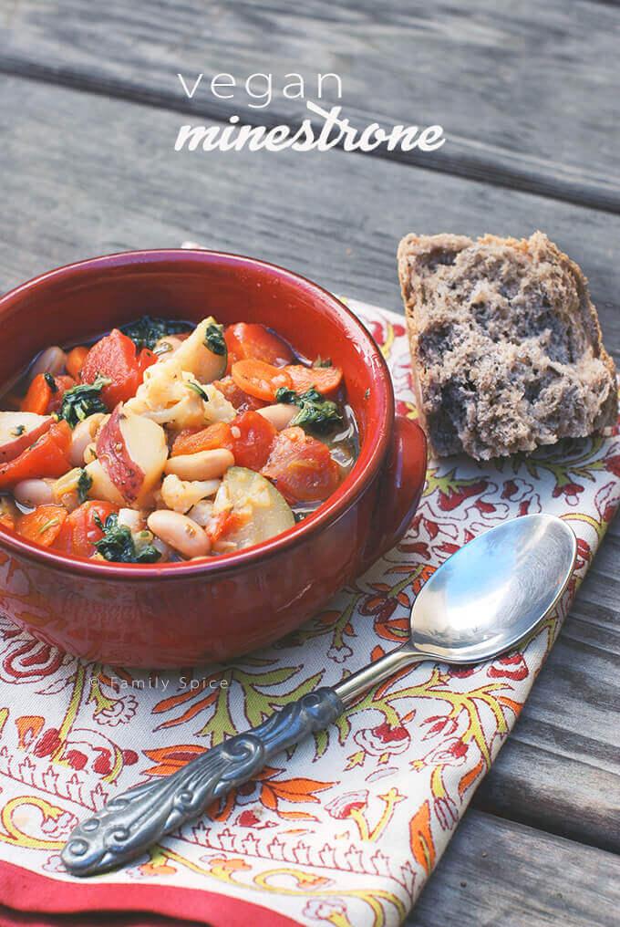 Veggie Packed Vegan Minestrone by FamilySpice.com