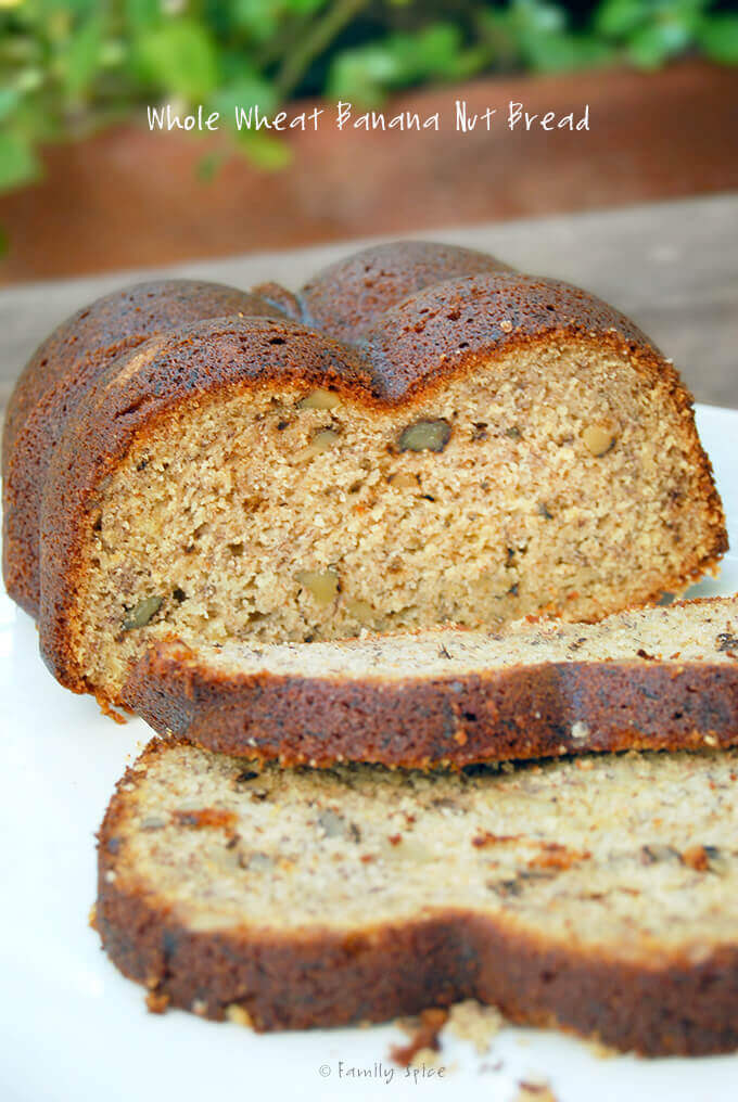 Whole Wheat Banana Nut Bread by FamilySpice.com