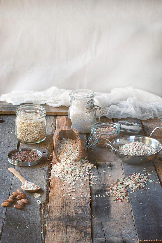 Whole Grains and Ingredients by FamilySpice.com