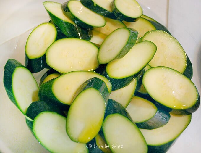 Chopped Zucchini for Baked Zucchini Parmesan Crisps by FamilySpice.com