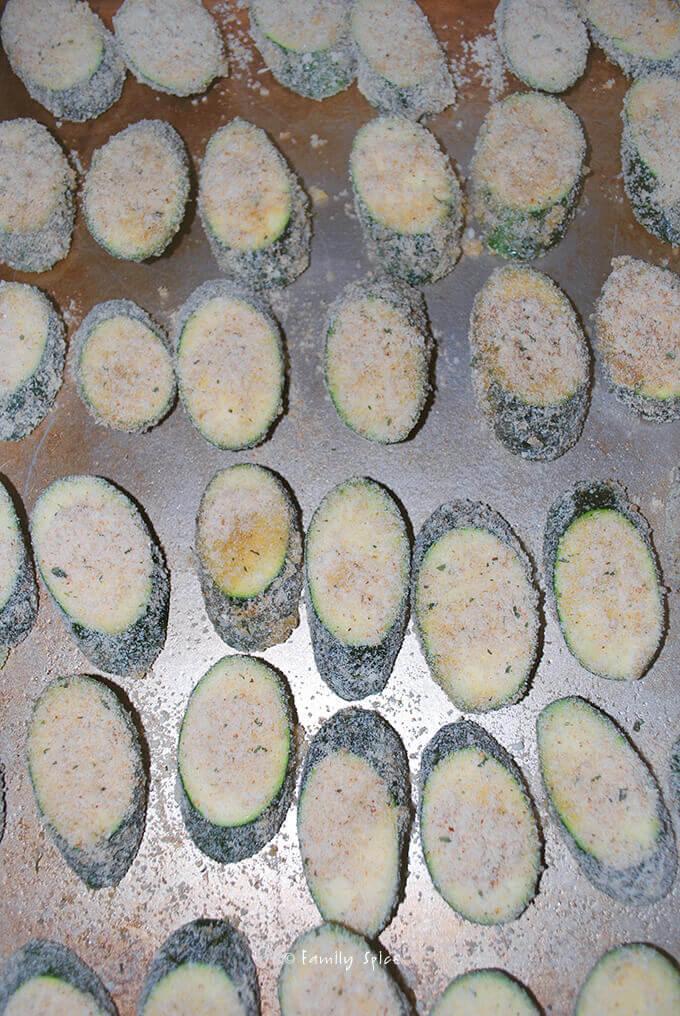 Ready to Bake Zucchini Parmesan Crisps by FamilySpice.com