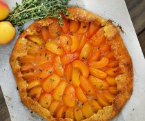 Apricot & Thyme Galette with Cornmeal Crust by FamilySpice.com