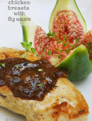 Pan-Seared Chicken Breasts with Fig Sauce