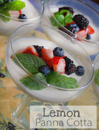 Lemon Panna Cotta with Fresh Berries