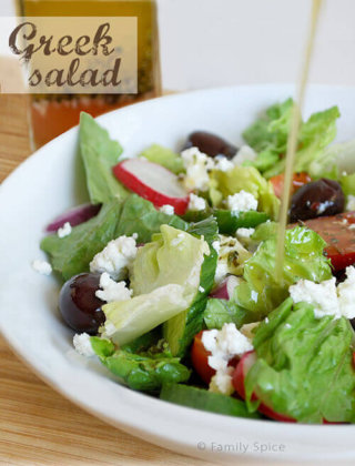 Cooling off with a Greek Salad