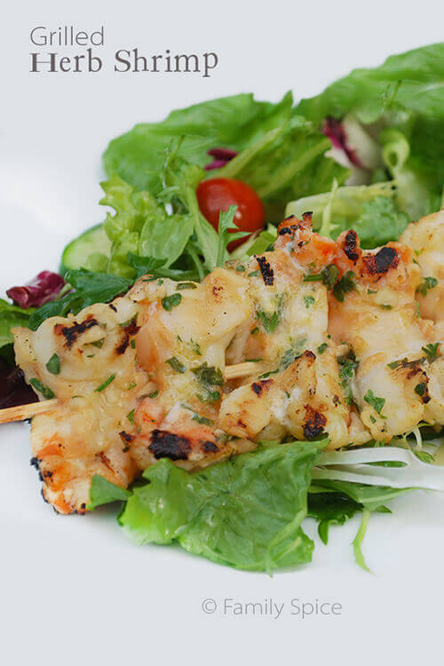 Grilled Herb Shrimp by FamilySpice.com