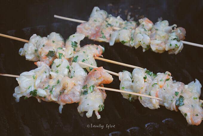 Grilling Up Super Simple Grilled Herb Shrimp by FamilySpice.com