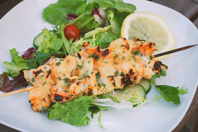 Super Simple Grilled Herb Shrimp by FamilySpice.com