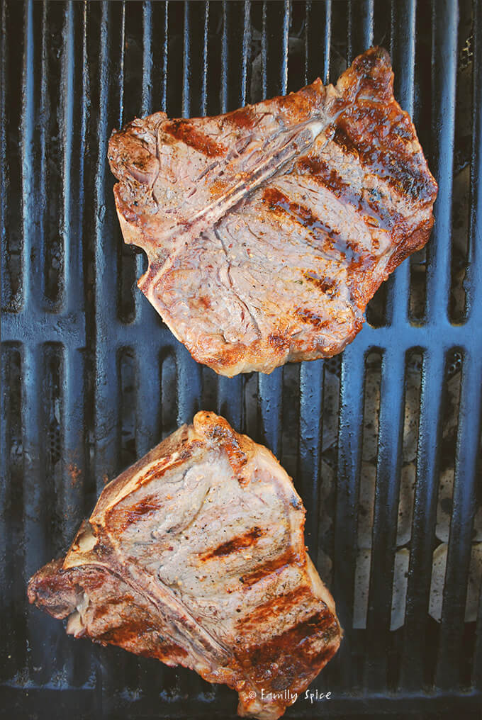 Grilled T-Bones by FamilySpice.com