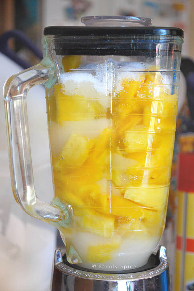 Making Mango Sorbet without Ice Cream Maker by FamilySpice.com