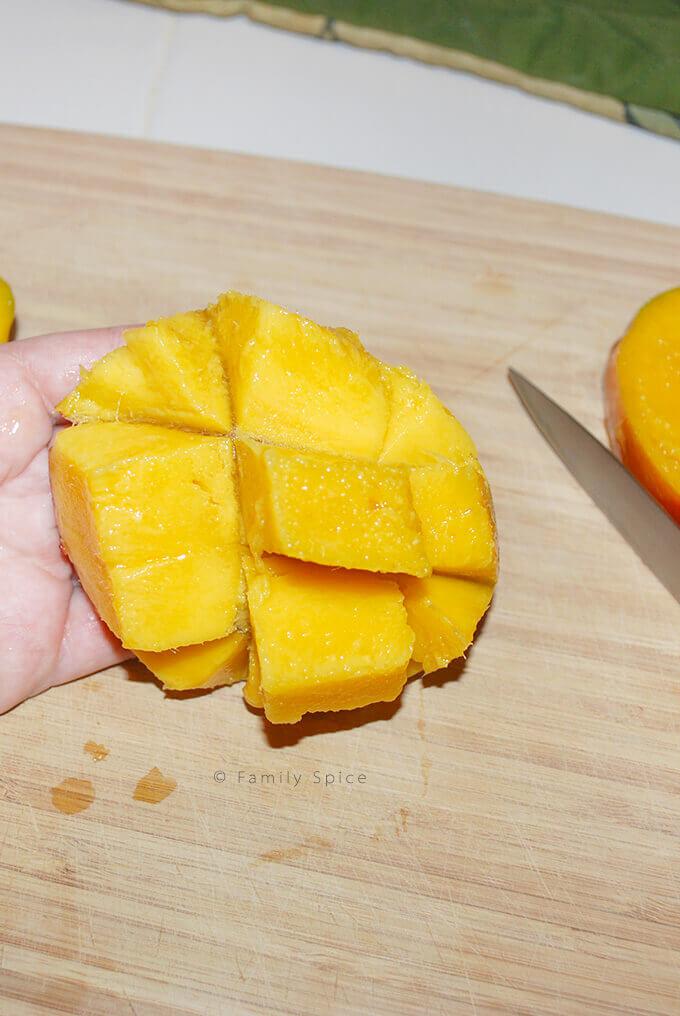 How to cut a mango by FamilySpice.com