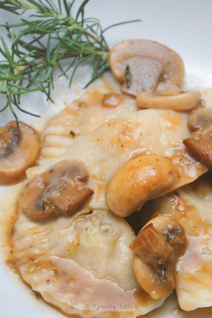 Chicken and Rosemary Pierogies by FamilySpice.com