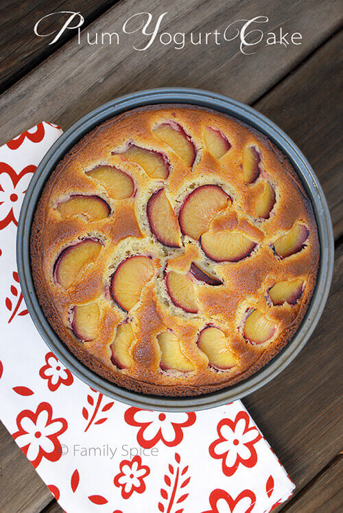 Plum Yogurt Cake by FamilySpice.com