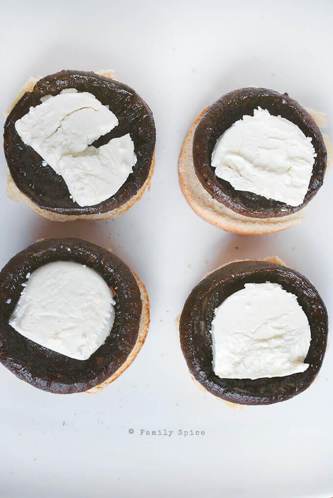 Assembling Balsamic Portobello Sliders by FamilySpice.com