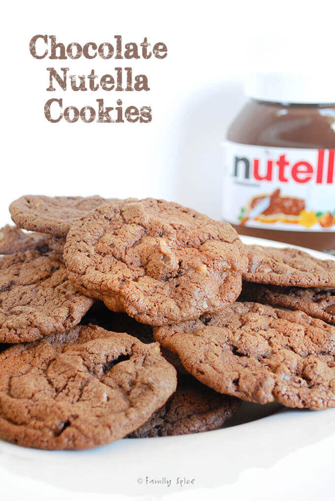 Sinful Chocolate Nutella Cookies by FamilySpice.com