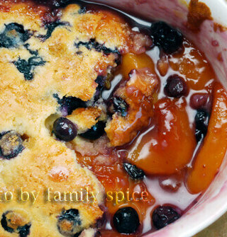 The Case of the Disappearing Peach and Blueberry Cobbler!