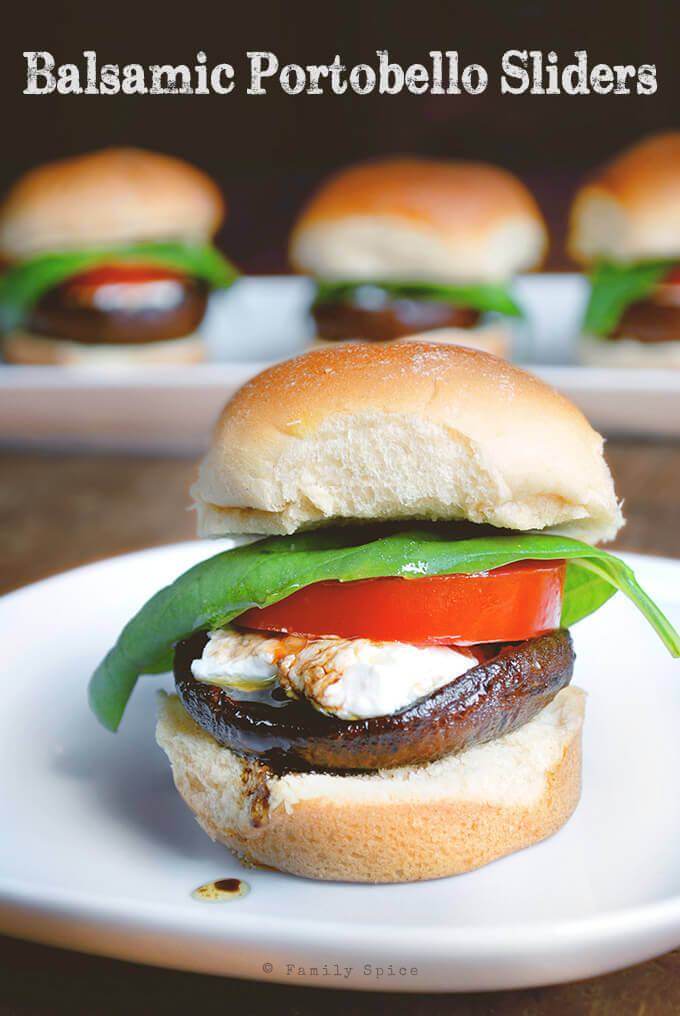 Balsamic Portobello Sliders by FamilySpice.com