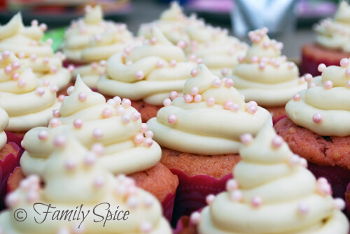 Pretty in Pink Strawberry Cupcakes by FamilySpice.com