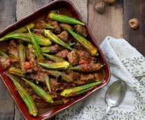 Persian Okra Stew - Khoreshteh Bamieh by FamilySpice.com