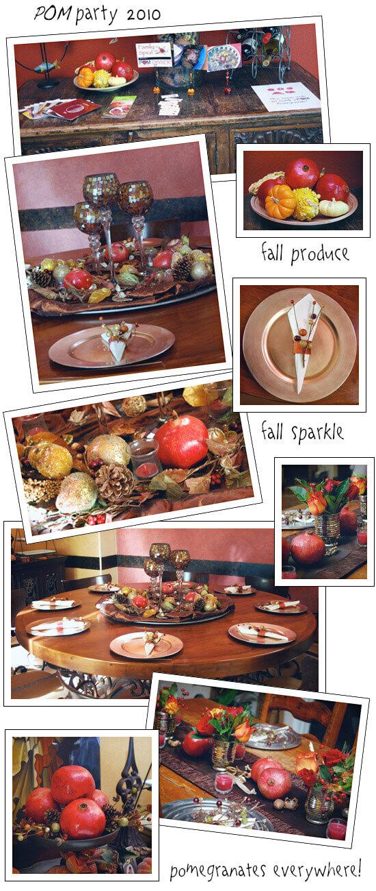Decor from My Very Special POM Party by FamilySpice.com