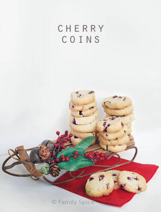 25 Days of Cookies: Cherry Orange Coins
