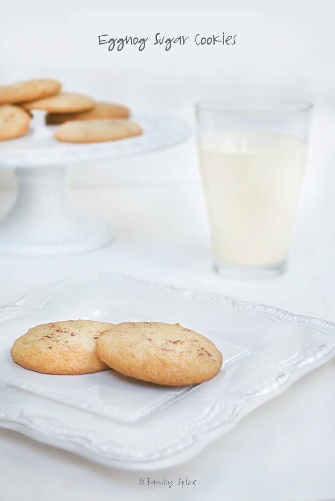 Eggnog Sugar Cookies by FamilySpice.com