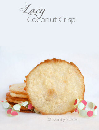 25 Days of Cookies: Lacy Coconut Crisps