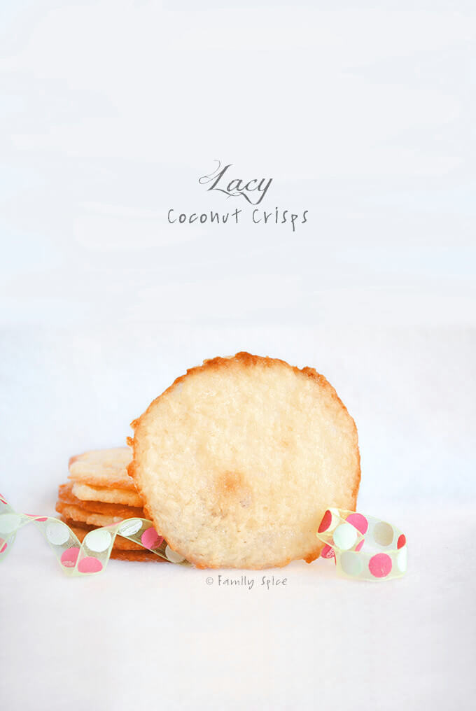 Lacy Coconut Crisps by FamilySpice.com