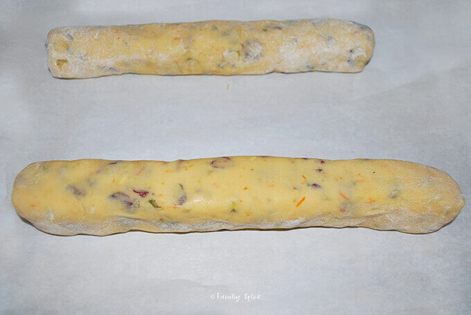 Ready to bake Pistachio Cranberry Biscotti and Macadamia Nuts by FamilySpice.com
