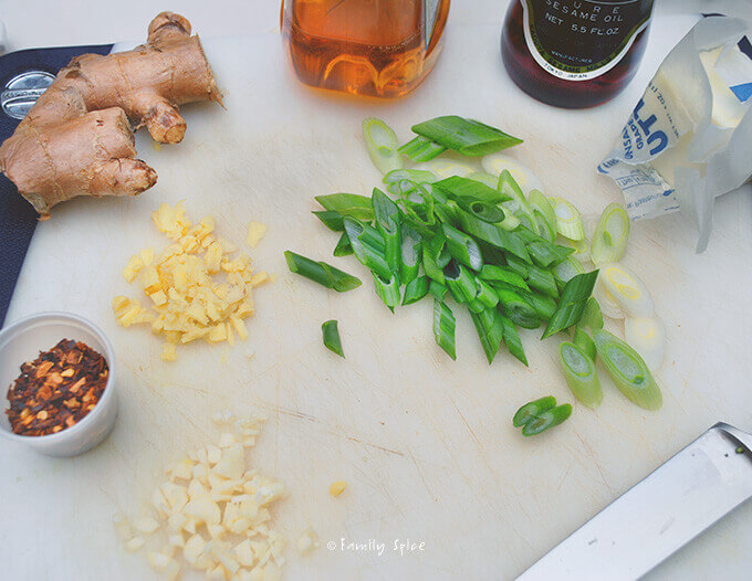 Ingredients for Long Beans with Ginger Sauce by FamilySpice.com
