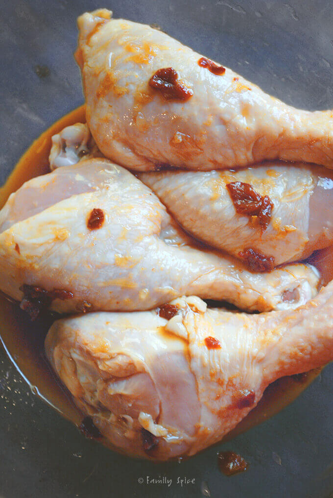 Chicken Drumsticks with Chipotle Glaze by FamilySpice.com