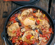 Dutch Oven Chicken Cacciatore by FamilySpice.com