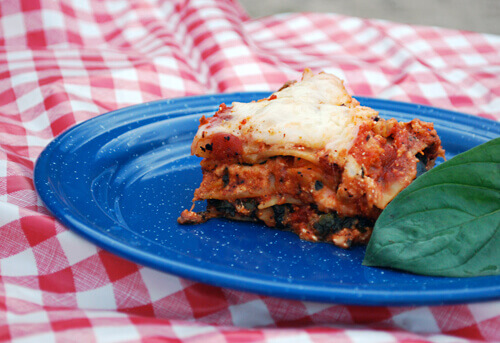 Dutch Oven Lasagna by FamilySpice.com