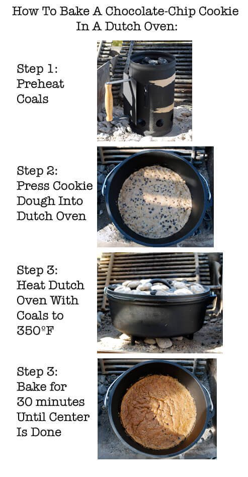 How to Bake a Chocolate Chip Cookie in a Dutch Oven by FamilySpice.com
