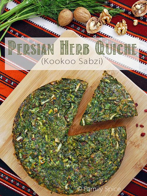 Persian Herb Quiche (Kookoo Sabzi) by FamilySpice.com