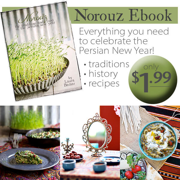 EBOOK - Everything you need to know about the Persian New Year (Nowruz) and the first day of spring, including the food and haft sin.