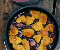 Dutch Oven Recipes: Campfire Berry Cobbler by FamilySpice.com