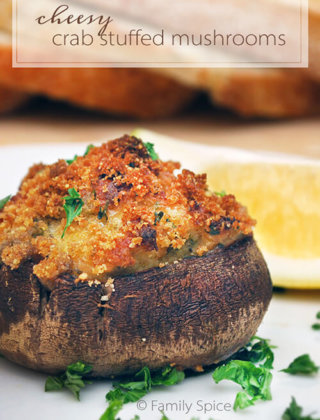 Cheesy Crab Stuffed Mushrooms and the Incredible, Edible Container