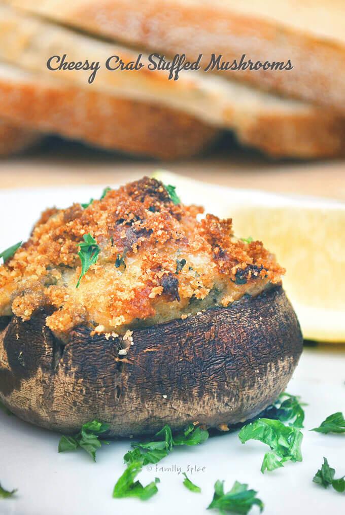 Cheesy Crab Stuffed Mushrooms by FamilySpice.com