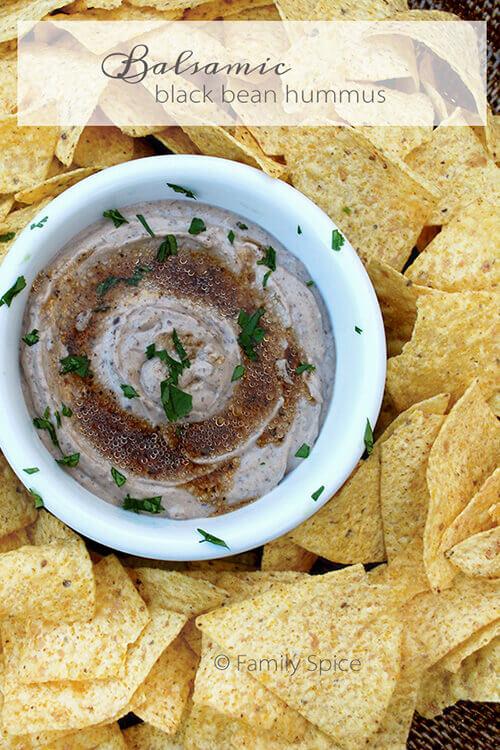 Balsamic Black Bean Hummus by FamilySpice.com