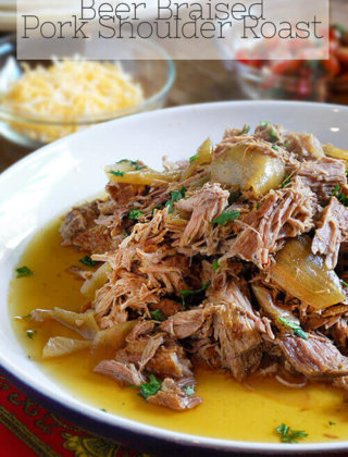 What Do You Do When A Foodie Can't Eat? Beer Braised Pork Shoulder Roast!