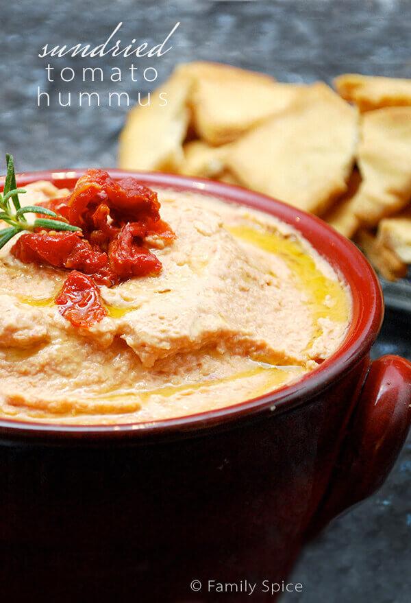 Sundried Tomato Hummus by FamilySpice.com